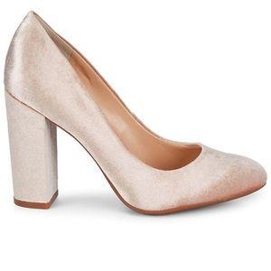Shoes - Vince Camuto | Janetta Blush Velvet Block Heels